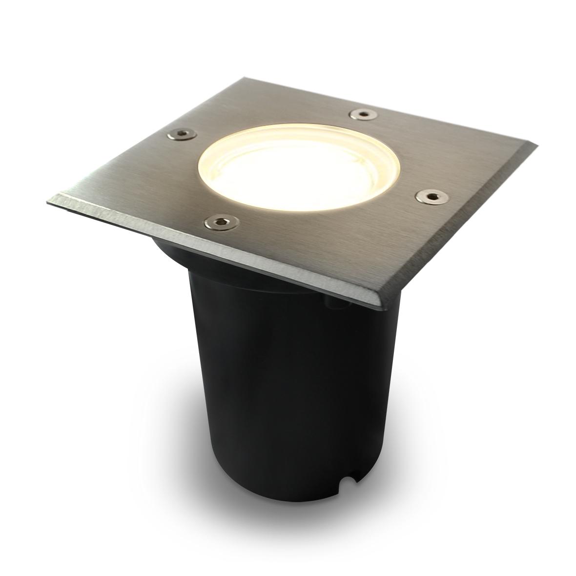 10er set led bodenleuchte bodeneinbaustrahler gartenstrahler ip67 230v cr136 ebay. Black Bedroom Furniture Sets. Home Design Ideas