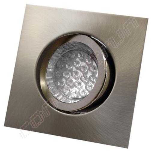 10er set led aluminium einbaustrahler einbauleuchte spot quadrat 12v 230v cr224 ebay. Black Bedroom Furniture Sets. Home Design Ideas
