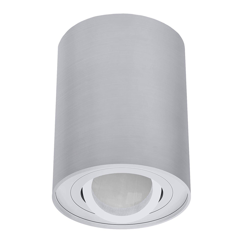 led aufbauleuchte deckenaufbaustrahler modern deckenleuchte aluminium gu10 230v. Black Bedroom Furniture Sets. Home Design Ideas
